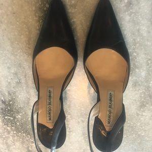 Dark brown heel